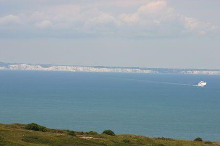 Kent coast from Calais cliffs