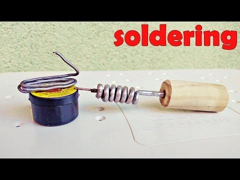 How To Make Soldering Iron Diy Non Electric Soldering Iron Youtube Soldering Soldering Iron Easy Tutorial