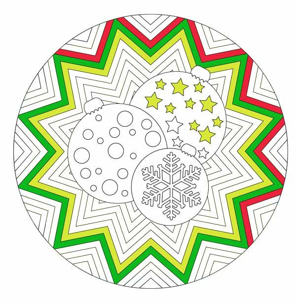 Mandala de Noël à télécharger | Mandala and Noel