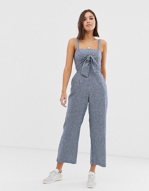 Abercrombie & Fitch jumpsuit with tie front | ASOS #casualjumpsuit