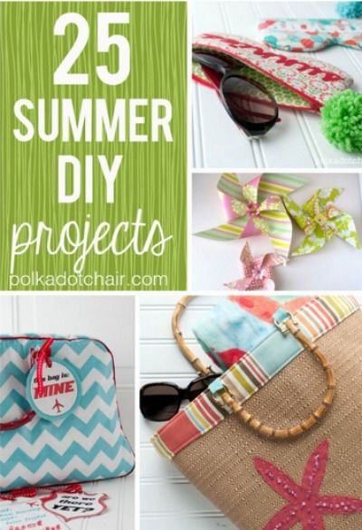 Bring on the creativity with these 25 cute summer DIY projects!