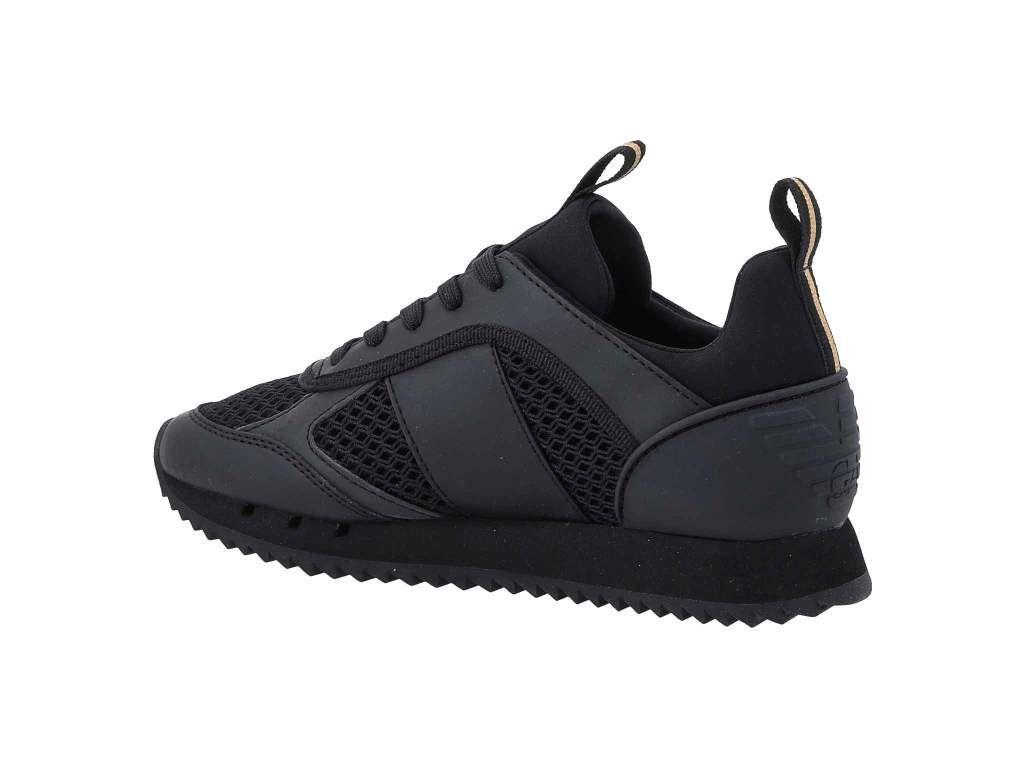 Injusticia Largo Madison  Сникърси EA7 EMPORIO ARMANI - X8X027 XK050 M701 Triple Black/Gold -  Сникърси - Обувки - Мъжки | obuvki.bg | Armani, All black sneakers, Emporio  armani