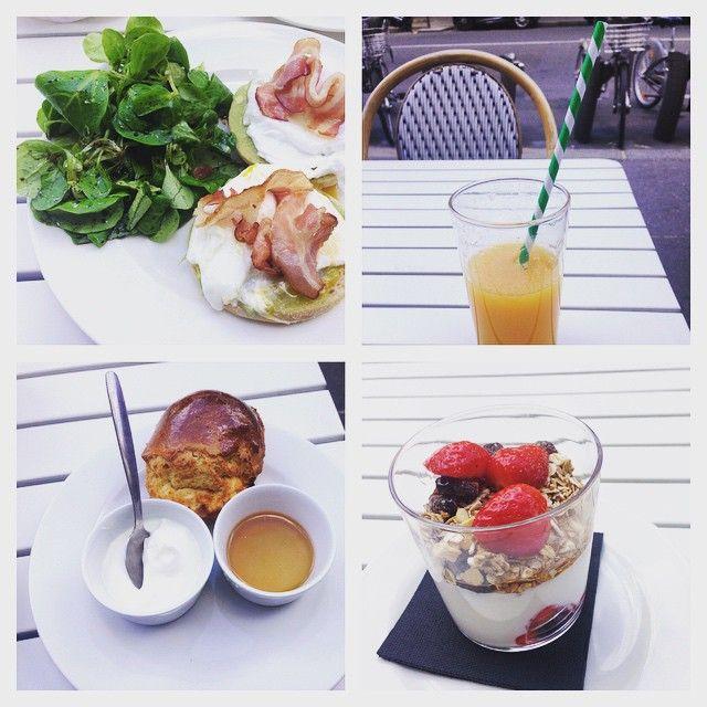 #brunch#clintparis #sunny #sunday #oeufspochés #bacon #scone #granola#orange