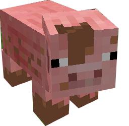 Muddy Pig With Mud Puddlle Minecraft Crafts Muddy Pigs Minecraft Skins Cool