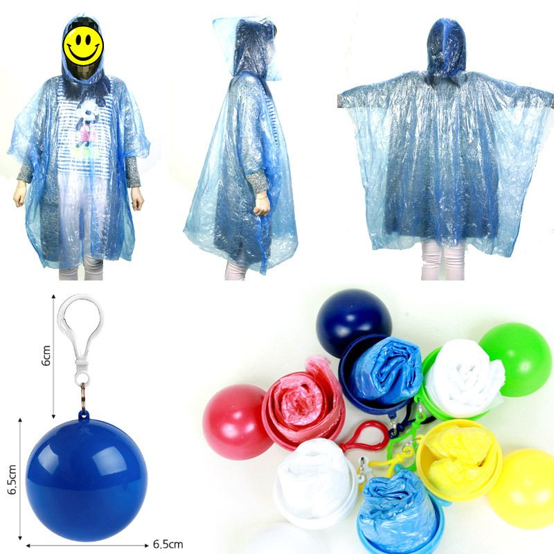 Disposable Poncho  Hiking Camping Emergency Rain Coat Rainwear Waterproof Unisex