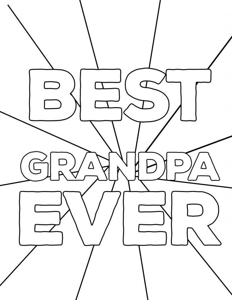 Happy Father S Day Coloring Pages Free Printables Paper Trail Design Father S Day Printable Fathers Day Coloring Page Happy Birthday Grandpa