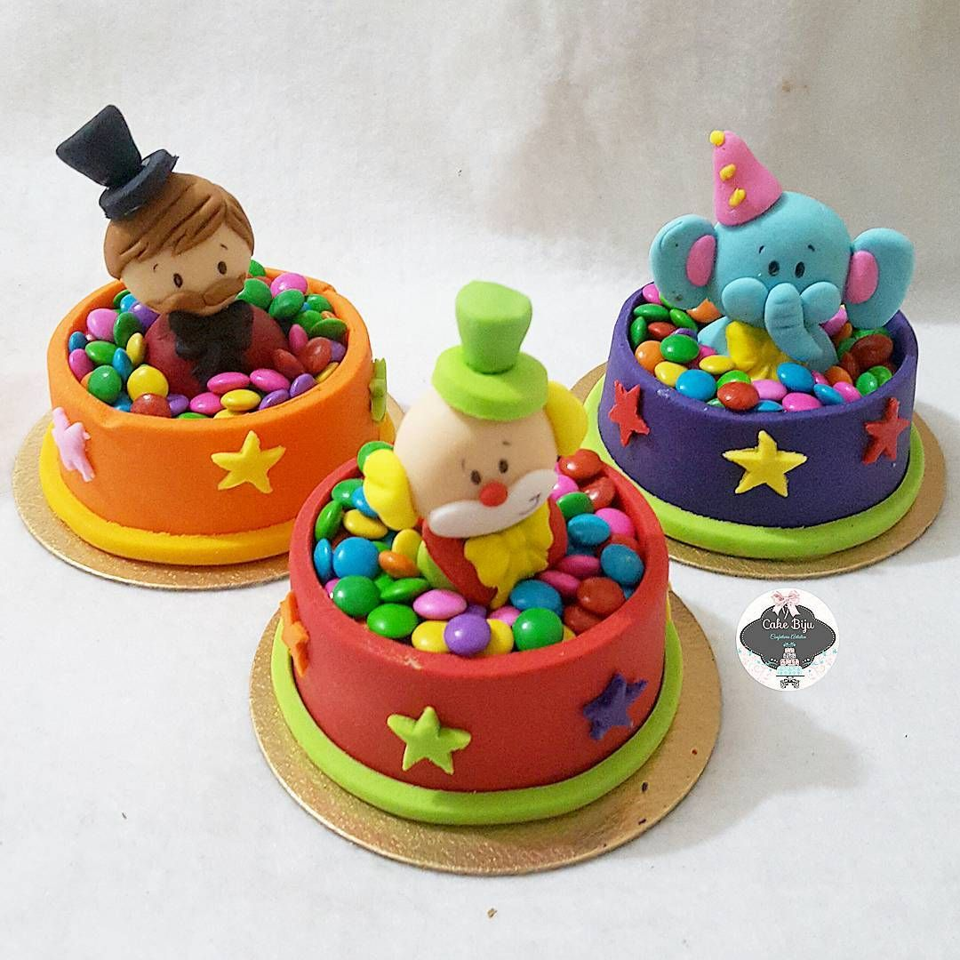 Mini Cake Confete Clown Clownparty Palhacos Festacirco Boy