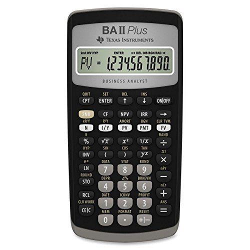 Texas Instruments Ba Ii Plus Financial Calculator Texas