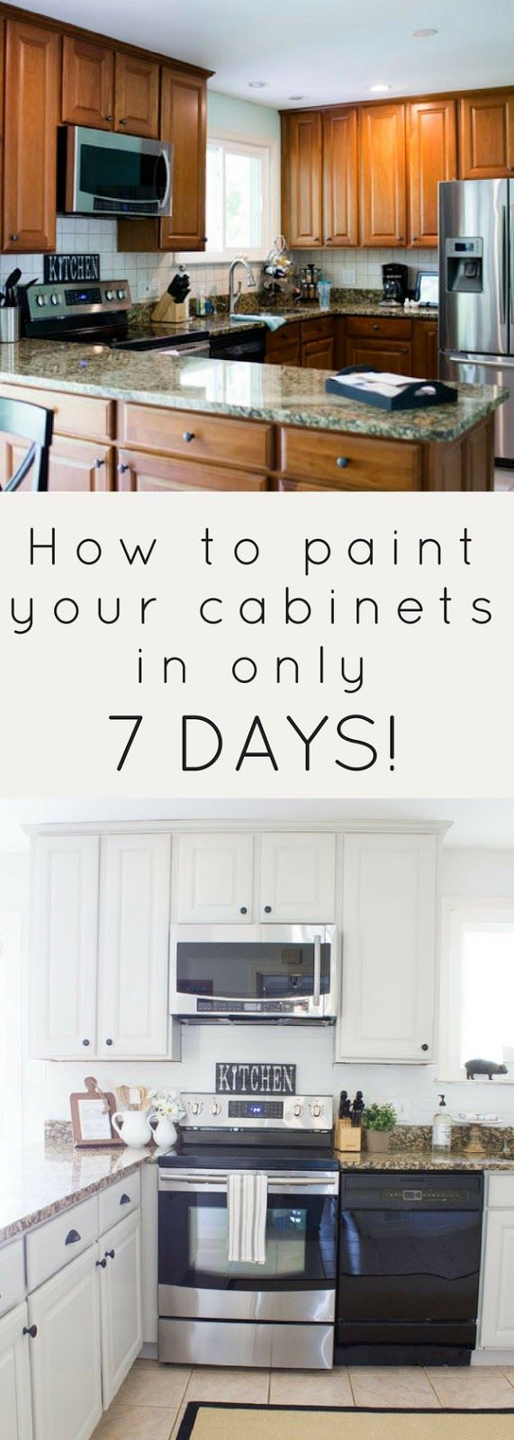 How To Paint Your Cabinets In 7 Days New Kitchen Cabinets Painting Kitchen Cabinets Kitchen Renovation