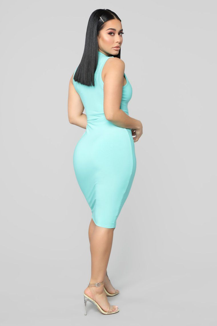 cf5e928ef3 Hug Your FN Body Midi Dress - Mint in 2019 | Curvy women fashion ...