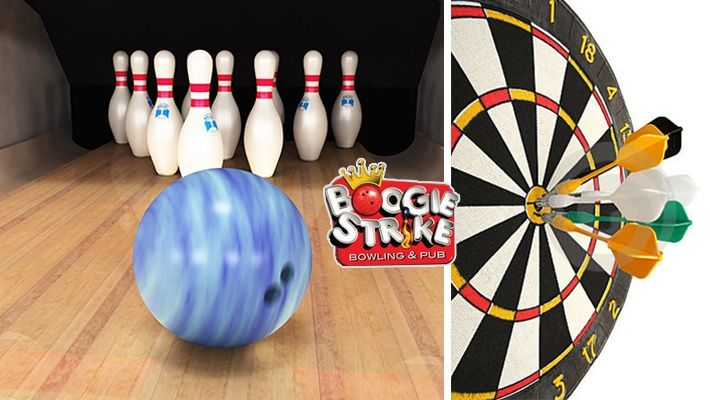 52% off 2 Rounds of Bowling + 2 Rounds of Darts + 2 Beers at Boogie Strike Bowling and Pub ($10 instead of $21)
