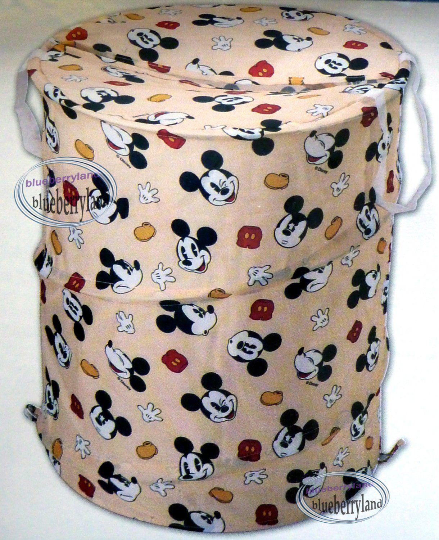Disney Mickey Mouse Large Laundry Hamper Bag Basket
