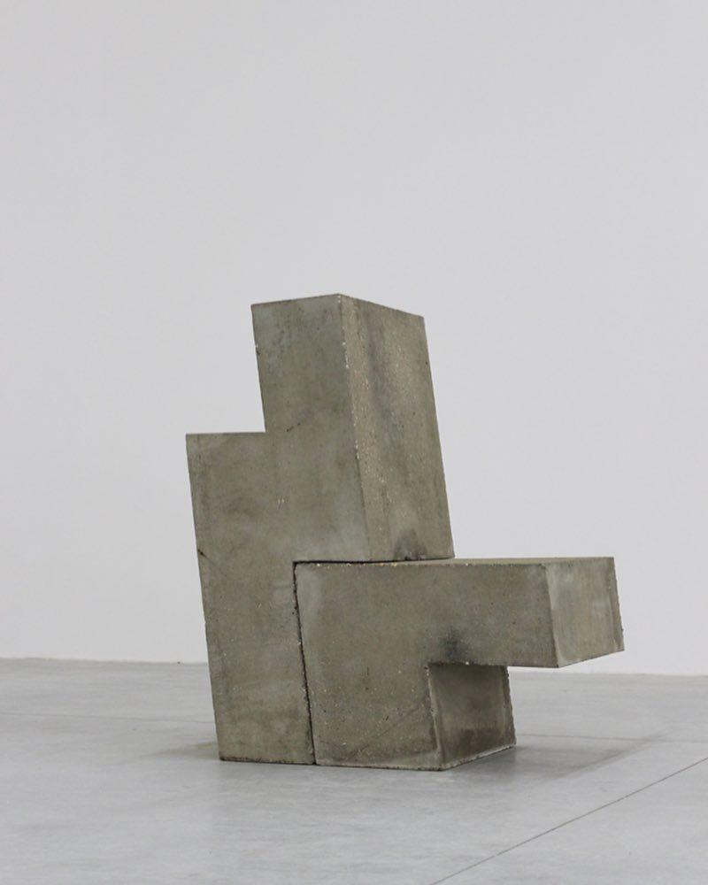 Oscar Tuazon Scott Burton Version 2 Concrete 2 Parts 41 X 19 5 8 X 33 7 8 In 106 X 50 X 86 Cm 2012 Concrete Stone Ceramic Sculpture Sculpture