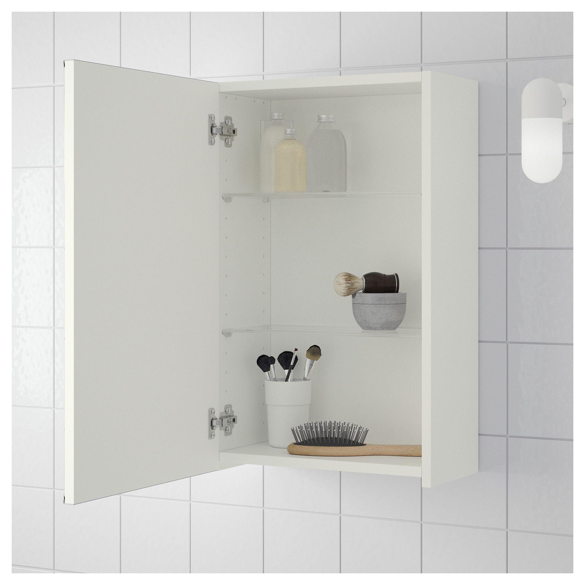 Best Ikea Lillången Mirror Cabinet With 1 Door White 400 x 300