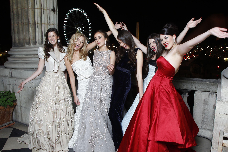 Debutantes at the Crillon ball