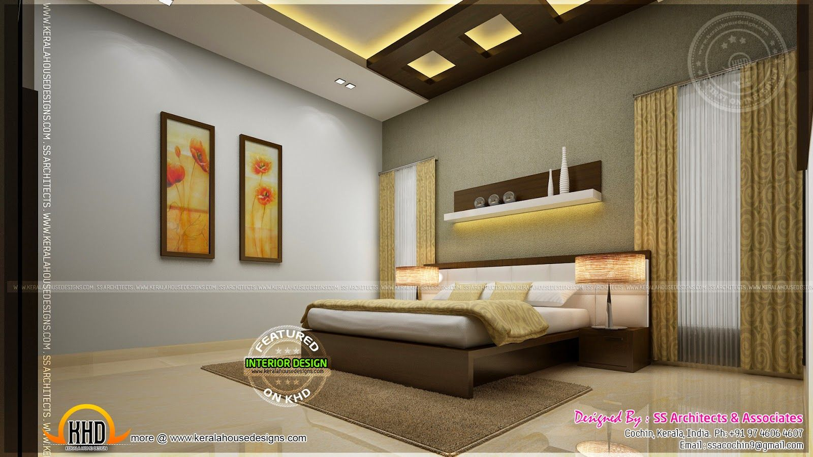 Indian master bedroom interior design google search for Interior wallpaper designs india