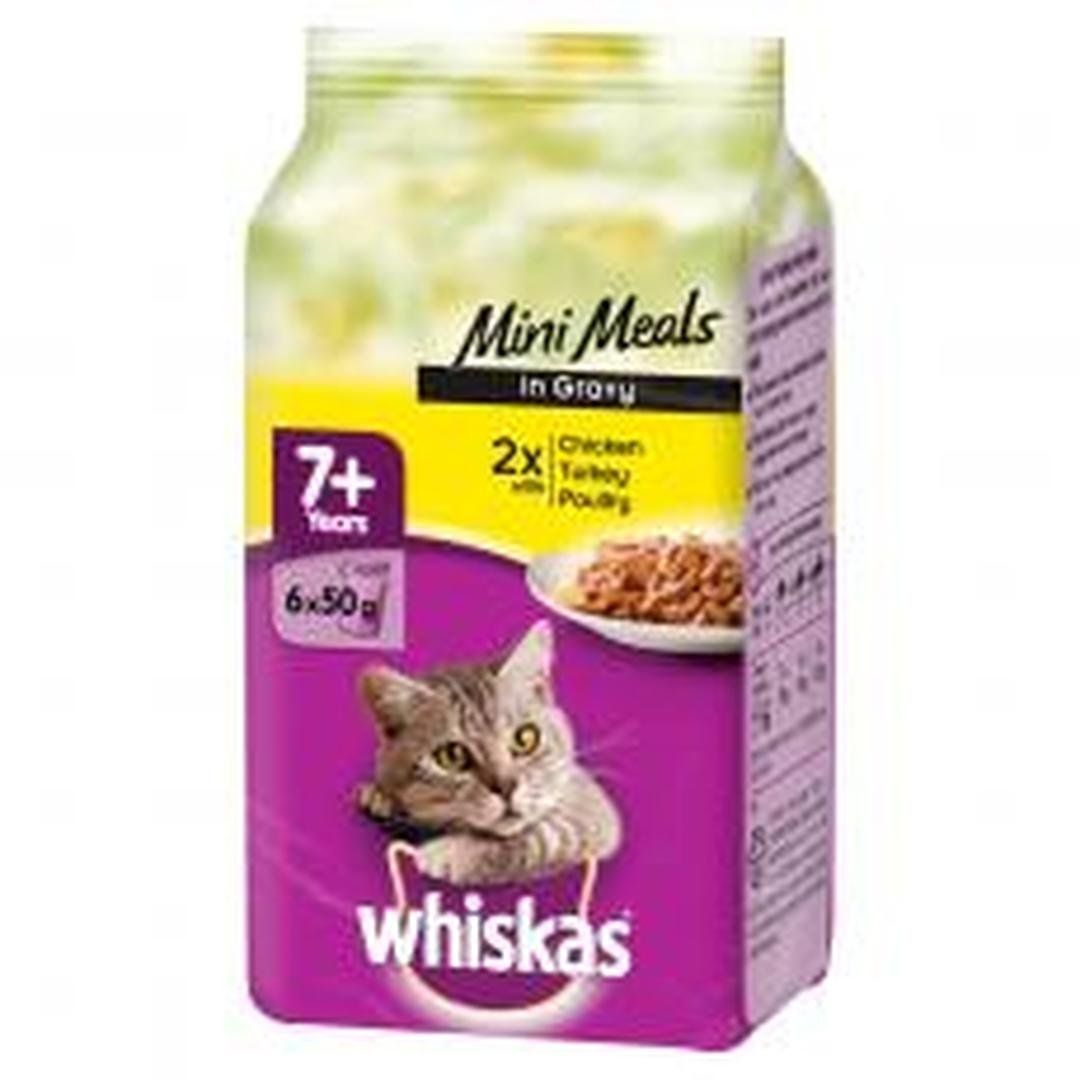 Whiskas Pouch 7 Poultry Selection Mini Meals 6x50g Pack Of 8