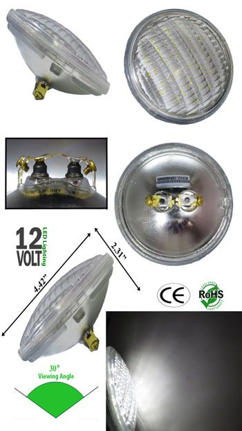 Par 36 5 Watt 12 Volt Ac Or Dc Diffused Screw Terminal G53 Led