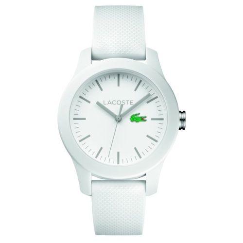 dd32226d60f Relógio Lacoste Feminino Borracha Branca - 2000954