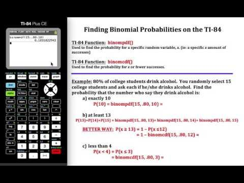 Calculating binomial probabilities on the ti 84 probability lesson calculating binomial probabilities on the ti 84 fandeluxe Image collections