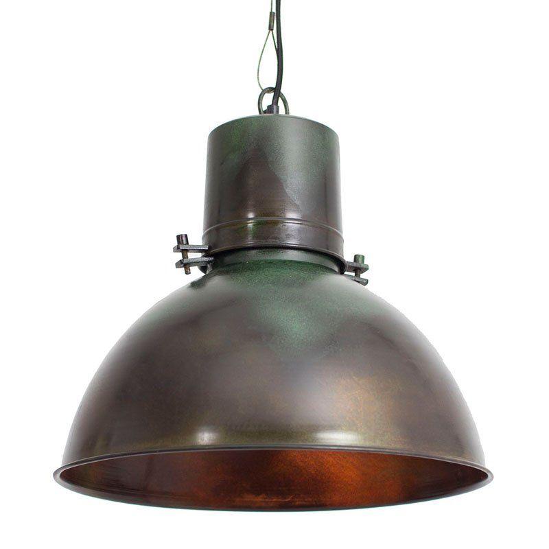 Kalalou Ndp1007 Smooth Metal Hanging Pendant Lamp Patina