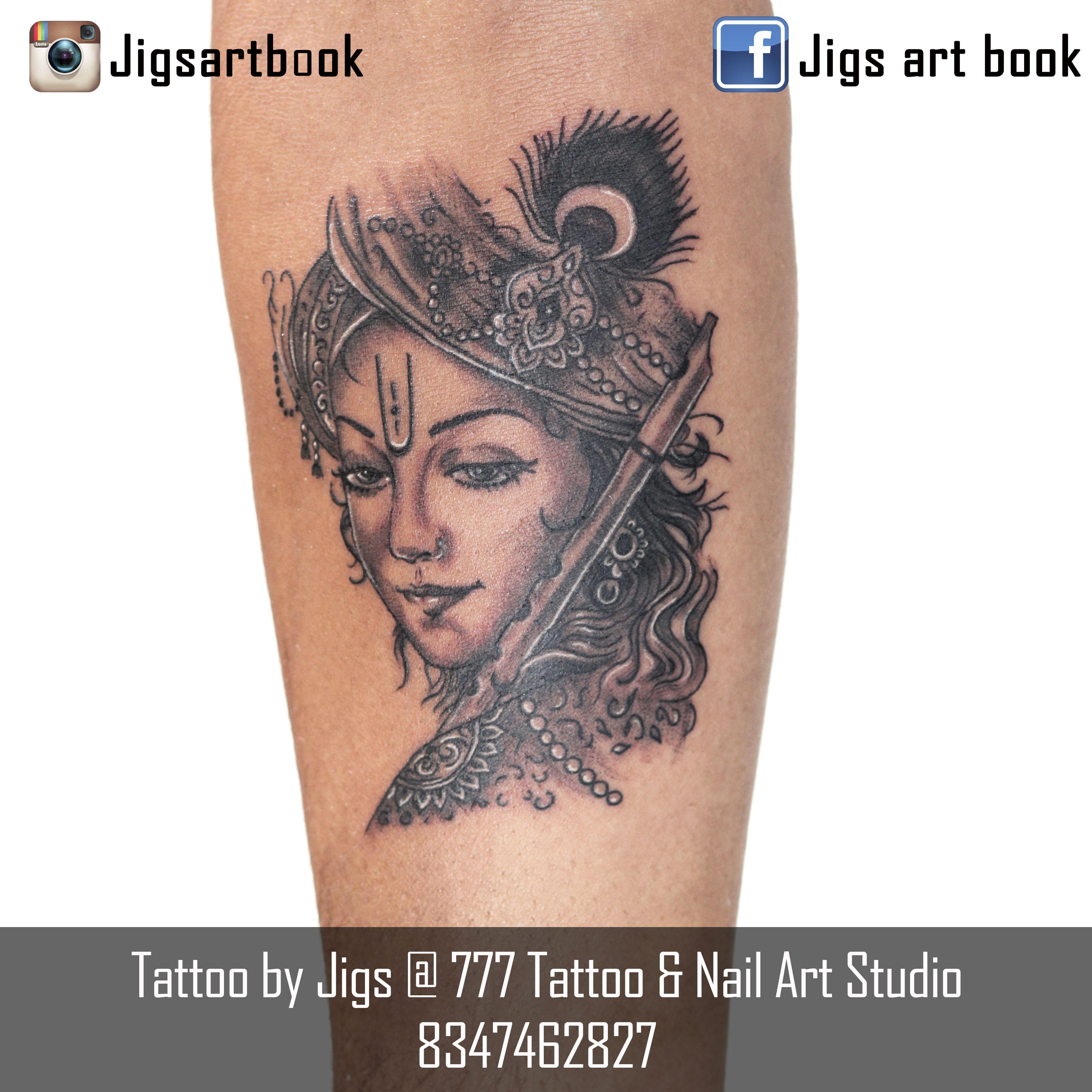 tattoo by jigs at 777 tattoo nail art studio v v nagar anand krishna tattoo tattoo inked. Black Bedroom Furniture Sets. Home Design Ideas