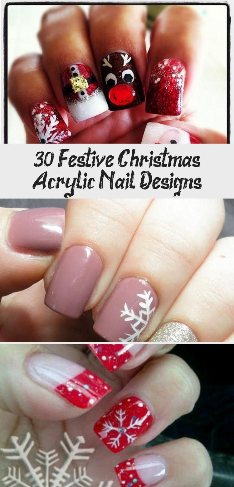 Photo of 30 Festive Christmas Acrylic Nail Designs – Nail Art