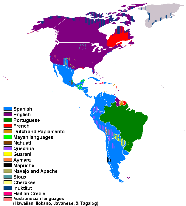 Americas Languages Spoken In The Ref Geo World: South America Map Of Languages At Usa Maps