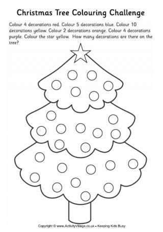 Christmas Tree Colouring Challenge 2 | Christmas Coloring Pages ...