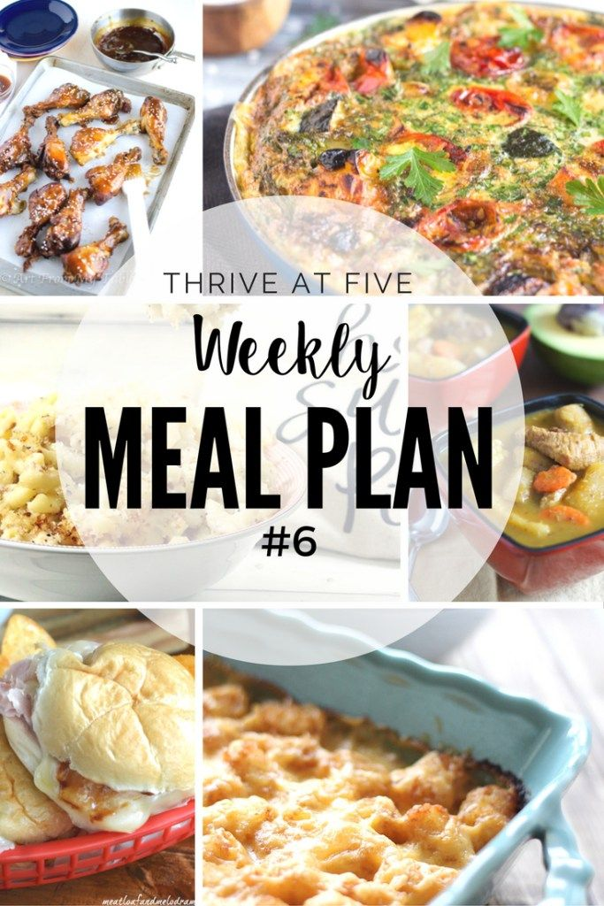 Weekly Meal Plan #6 - Easy Recipes | Weekly meal plans, Weekly meals ...