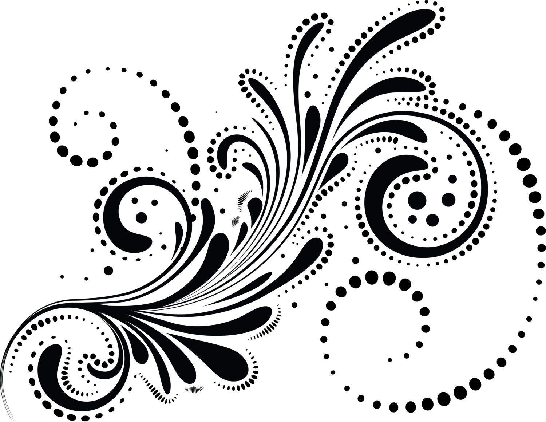 Swirls Digital Floral Elements Clipart Wedding Digital