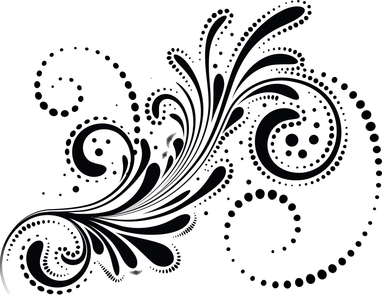 Swirls Digital FLORAL ELEMENTS, Clipart,Wedding Digital Clip Art ...