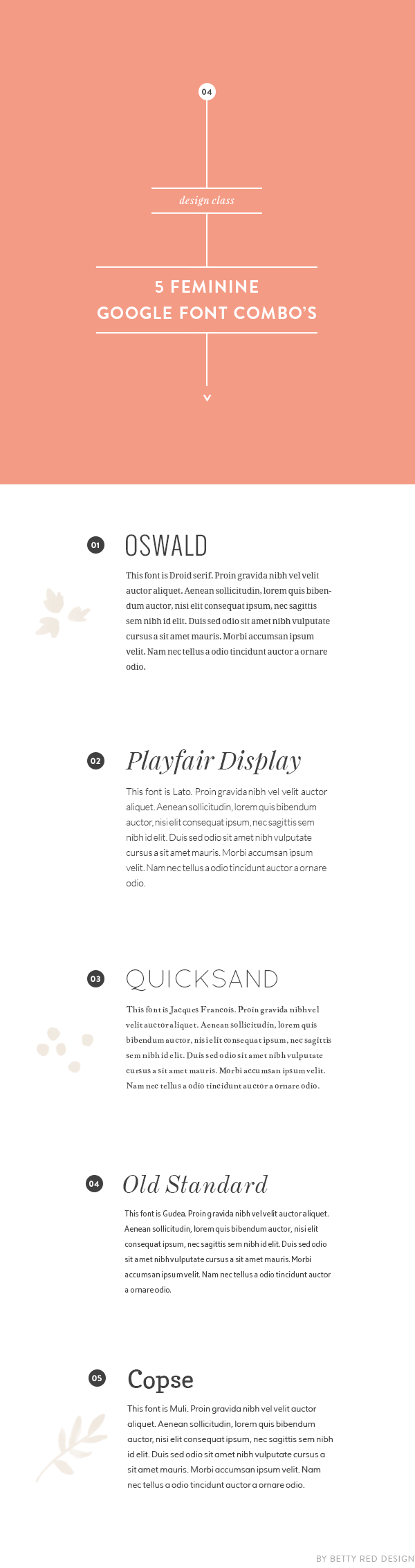 5 feminine google font combinations. Resume Example. Resume CV Cover Letter