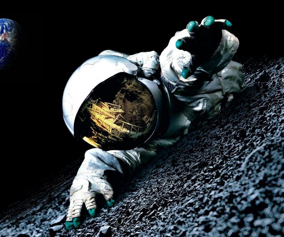 Hd Wallpaper Spaceman Moon Space Astronaut Gravity