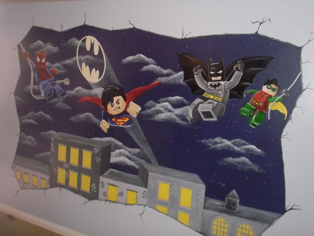 . Lego Batman Mural www custommurals co uk   Kids Room Ideas in 2019
