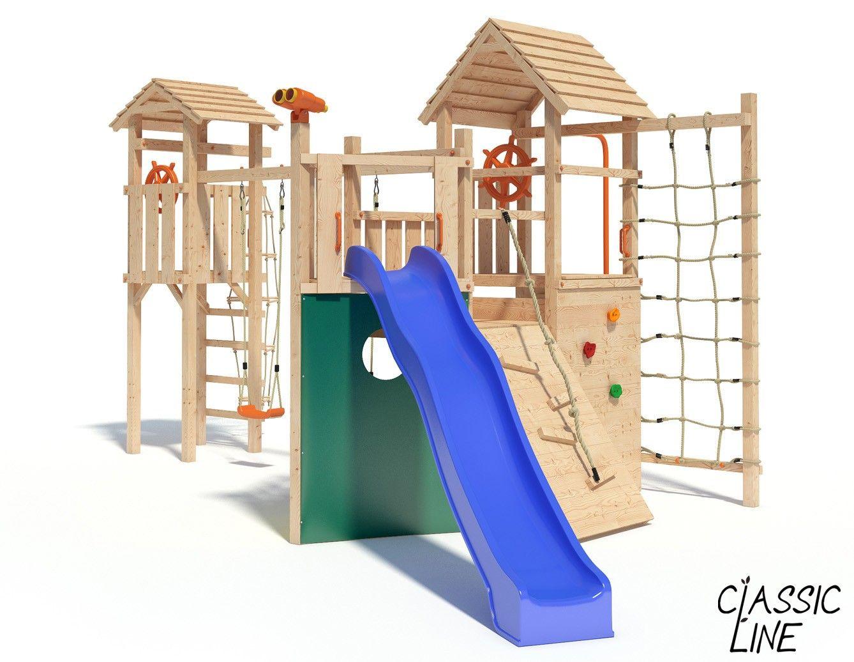 Spielturm Kon Tiki Neo Turm Anbau Blaue Rutsche Gartenspielgeräte