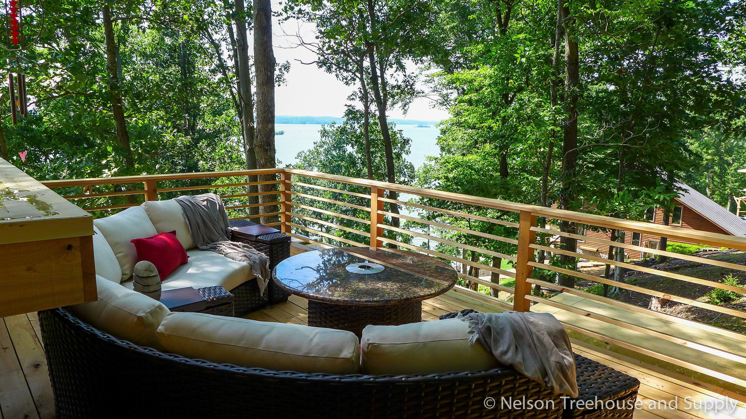Frank Lloyd Wright Treehouse Deck  Pete Nelson