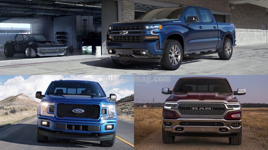 2019 chevrolet silverado vs ford f 150 vs 2019 ram 1500 world wide auto news pinterest. Black Bedroom Furniture Sets. Home Design Ideas