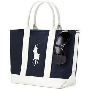 cc9b7a0c60 Yahoo! Auctions - Ralph Lauren Polo Canvas Big Pony Tote Nav ...