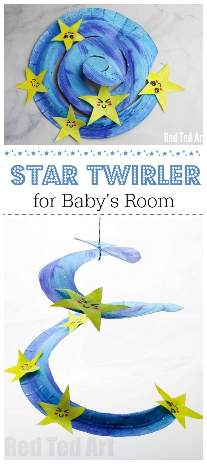 Paper Plate Star Twirler - Red Ted Art - Make crafting with kids easy & fun