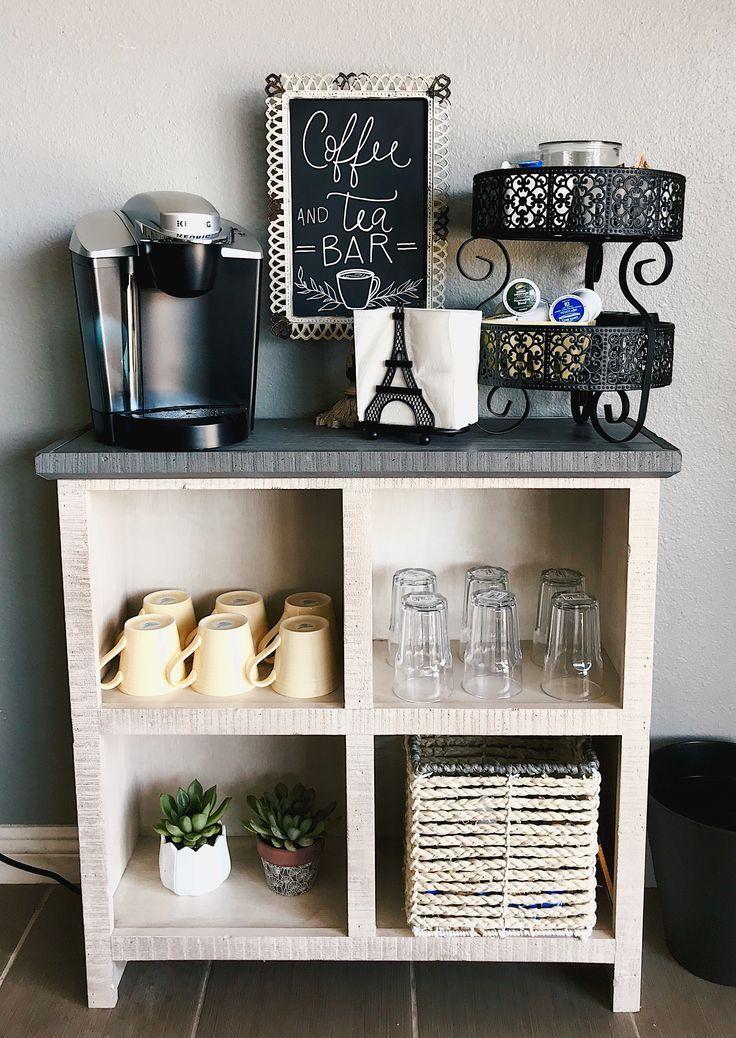 Salon Kaffee- und Teebar mit Selbstbedienung   - Dekoration Trends 2019 - #Dekoration #Kaffee #mit #salon #Selbstbedienung #Teebar #Trends #und #coffeebarideas
