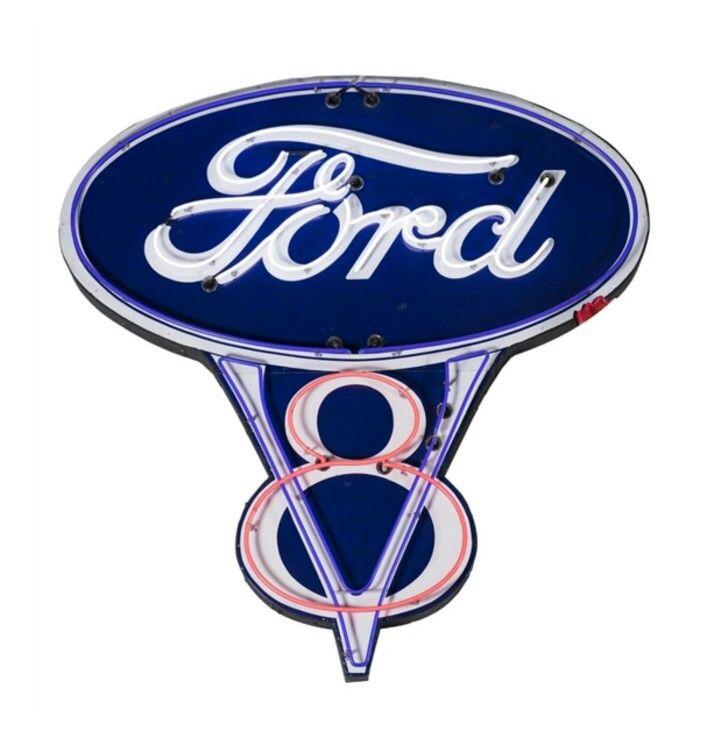 Huge Original Ford V8 Neon Sign Neon Signs Signage Vintage Signs