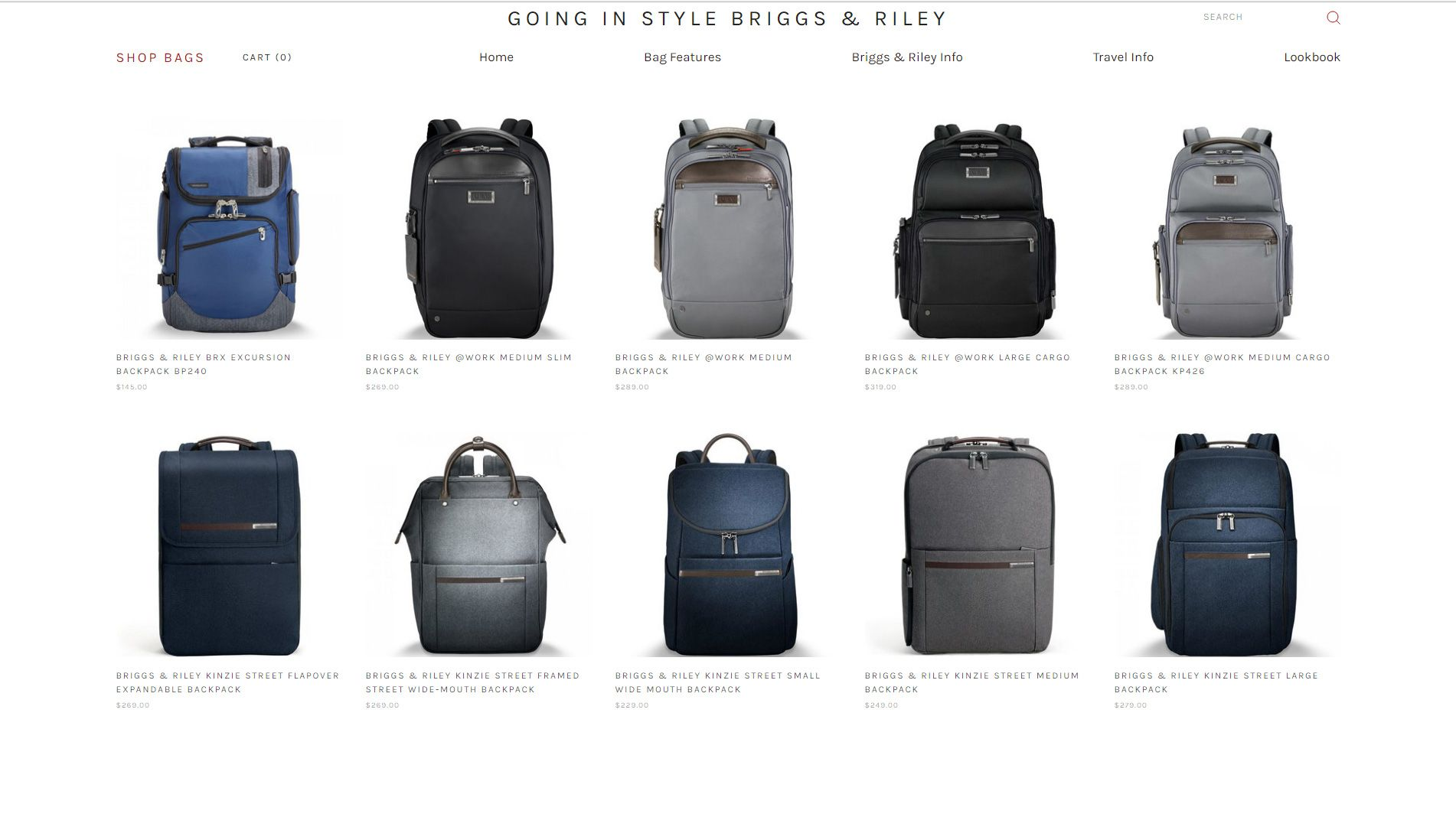 ba23d2e9c Shop Briggs & Riley Backpacks FREE SHIPPING on all Briggs & Riley Backpacks.  Shop work backpacks and travel backpacks that will last a lifetime.