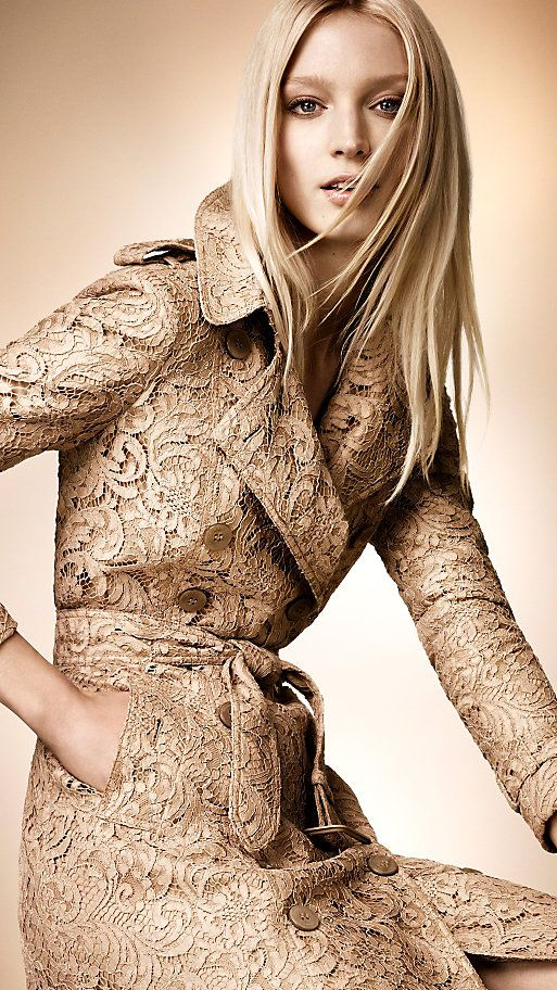 Burberry #lace trench coat