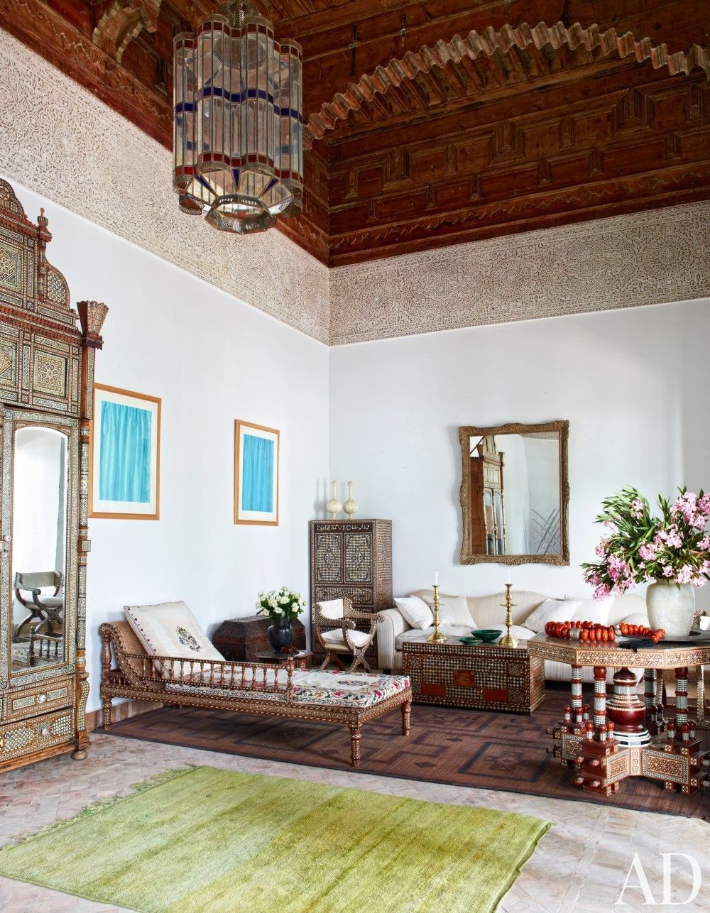 Exotic Living Room by Ahmad Sardar-Afkhami in Marrakech, Mo ...