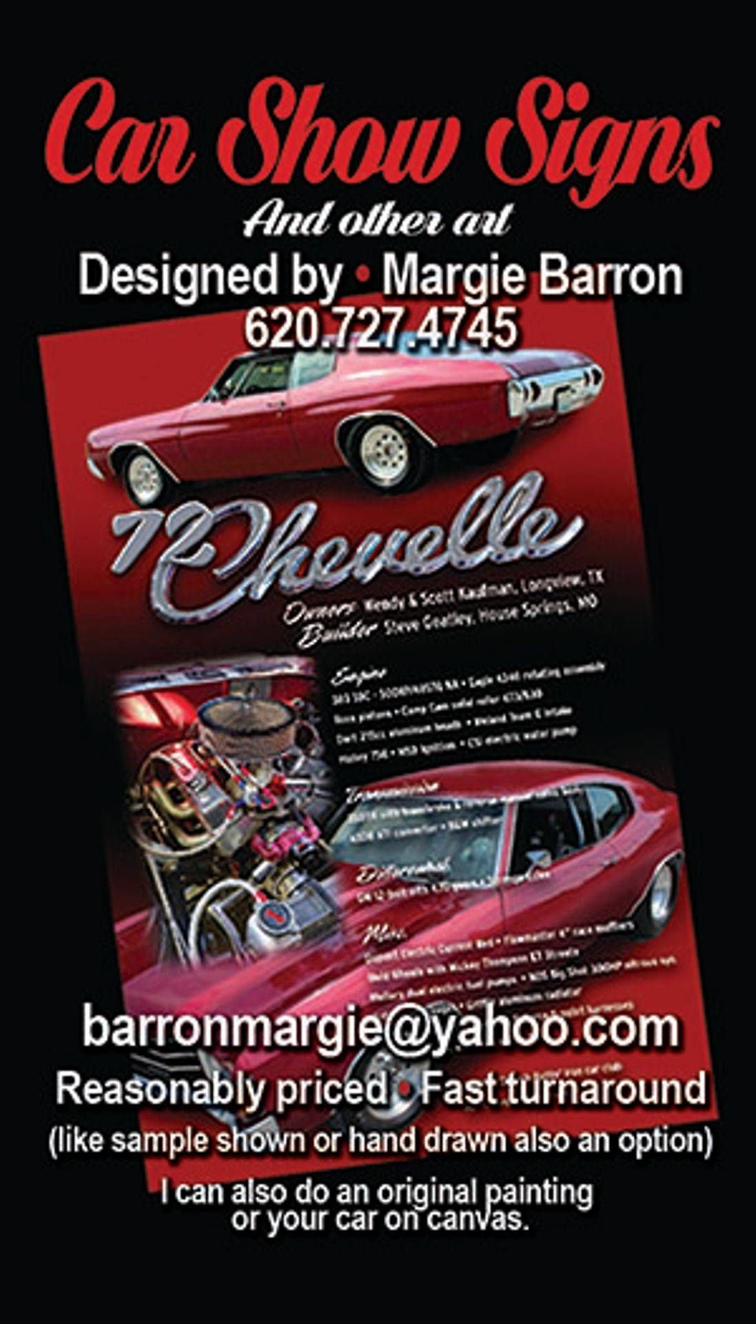 Click On Image To Visit My Website Very Quick Turnaround Time All I Need Are Your Photos And Some Specs I Ll Design The Car Show Car Painting Custom Cars