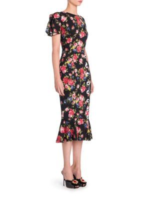 DOLCE & GABBANA Floral Button Dress. #dolcegabbana #cloth #dress