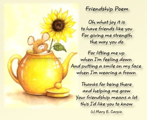 Friendship Poemk | Sights | Pinterest | Friendship, Poems and ...