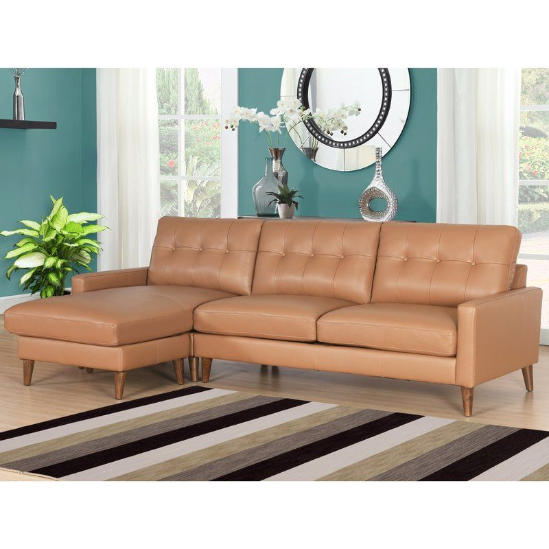 Malaysia Mid Century Leather Reversible Sectional Top Grain Leather Sectional Sectional Sofa Couch Sectional Sofa