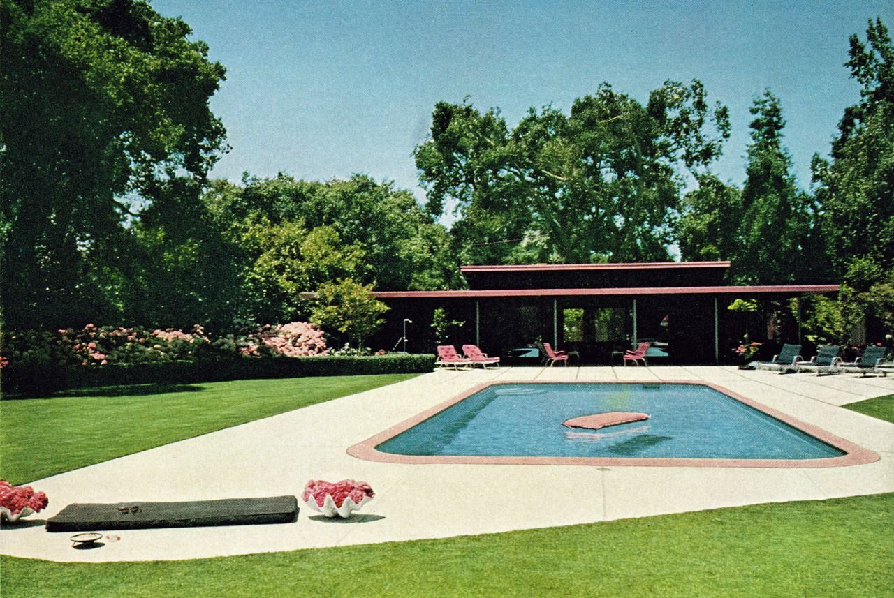 1950 swimming pools remarkably retro backyard swimming